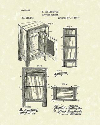 Kitchen Cabinet 1882 Patent Art Poster by Prior Art Design