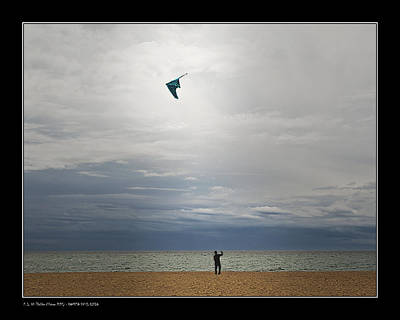 Poster featuring the photograph Kite In The Sky by Pedro L Gili