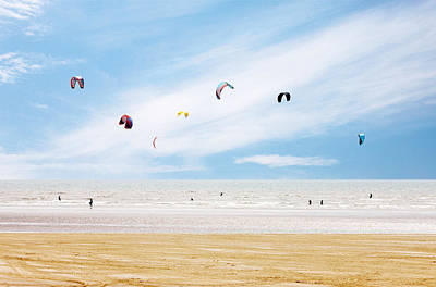 Kiteboarder Paradise Poster by Richard Newstead