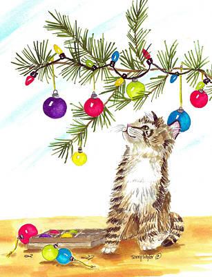 Kitten's First Christmas Poster