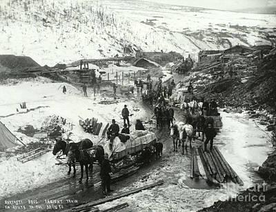 Klondike Gold Rush, 1898 Poster by Photo Researchers