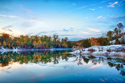 Klondike Park Autumn Lake Poster by Bill Tiepelman