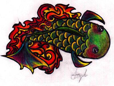 Koi Fish 2 Poster