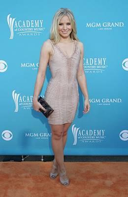 Kristen Bell Wearing A Herve Leger Poster