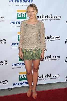 Kristen Bell Wearing An Alberta Poster