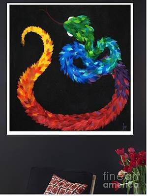 Kukulkan - Hanging Poster by Mitza Hurst