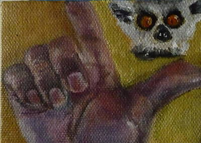 Poster featuring the painting L Is For Lemur by Jessmyne Stephenson
