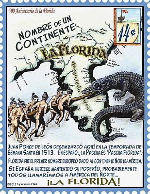 La Florida Nombre De Un Continente Poster