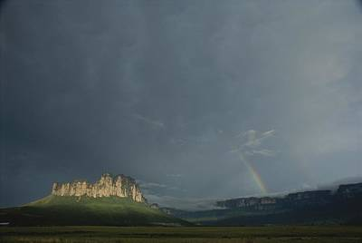 La Gran Sabana Landscape With Rainbow Poster