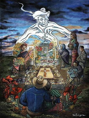 La Reunion Familiar Poster by Isis Rodriguez