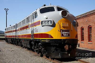 Lackawanna Railroad - Engine 664 Poster