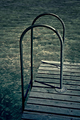 Ladder Into The Lake Poster by Joana Kruse