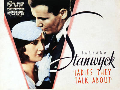 Ladies They Talk About, Barbara Poster