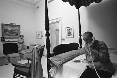 Lady Bird And President Johnson Taking Poster