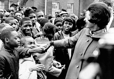 Lady Bird Johnson Greets African Poster by Everett