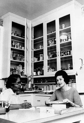 Lady Bird Johnson, In The Kitchen Poster by Everett