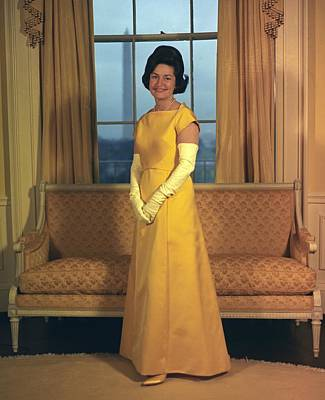 Lady Bird Johnsons Inaugural Gown. The Poster
