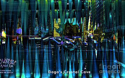 Lady Gaga Crystal Cave Poster by Chuck Kuhn