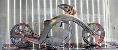 Lady Gaga Machine V Poster by Chuck Kuhn