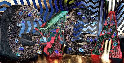 Lady Gaga Xmas Poster by Chuck Kuhn