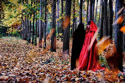 Lady In Red - 4 Poster by Okan YILMAZ