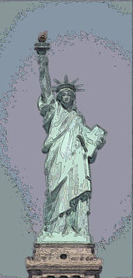 Lady Liberty Poster by Mickey Hatt