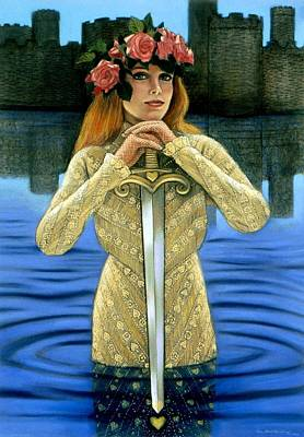 Poster featuring the painting Lady Of The Lake by Sue Halstenberg