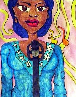 Lady Singer Poster by Artists With Autism Inc