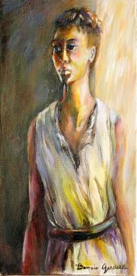 Lady Waiting Poster by Bonnie Goedecke