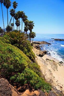 Laguna Beach California Shoreline Poster by Paul Velgos