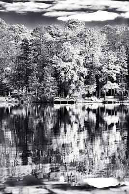 Lake Drama Poster by John Rizzuto