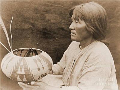 Lake Mono Basket Maker Poster by Padre Art