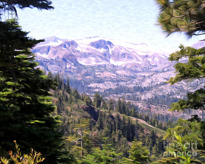 Poster featuring the photograph Lake Tahoe Mountains by Anne Raczkowski
