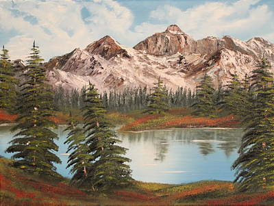 Poster featuring the painting Lakeside by Christie Minalga