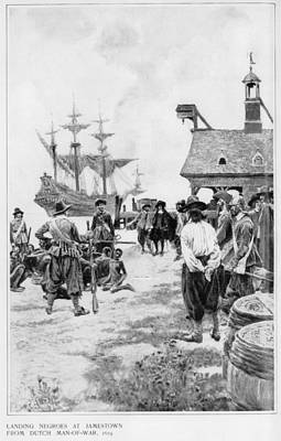 Landing Of 20 African Captives Poster by Everett