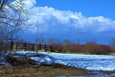 Landscape  Snow Scene Poster