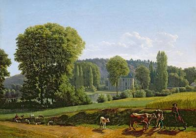 Landscape With Animals Poster