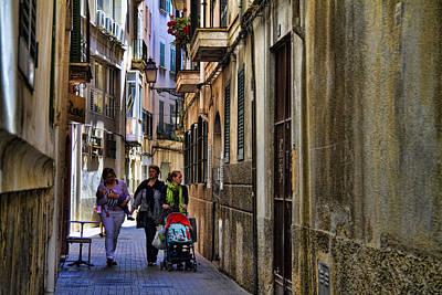 Lane In Palma De Majorca Spain Poster by David Smith