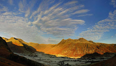 Langdale Cloud Fireworks Poster by Stewart Smith