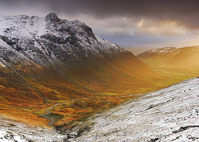 Langdale Sunburst Poster by Stewart Smith