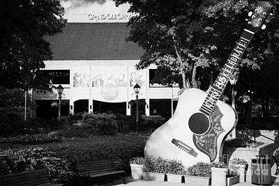 large guitar outside Grand Ole Opry House building Nashville Tennessee USA Poster by Joe Fox