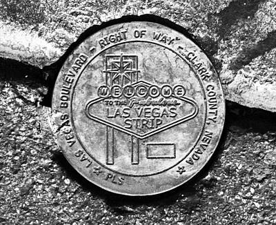 Las Vegas Strip Street Medallion Poster by David Lee Thompson