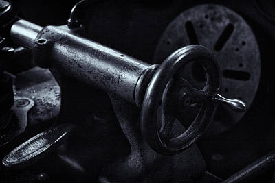 Poster featuring the photograph Lathe Handle by Tom Singleton
