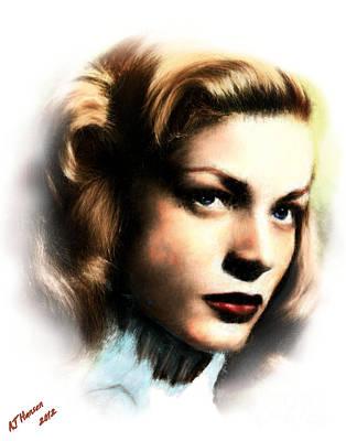 Lauren Bacall Poster by Arne Hansen
