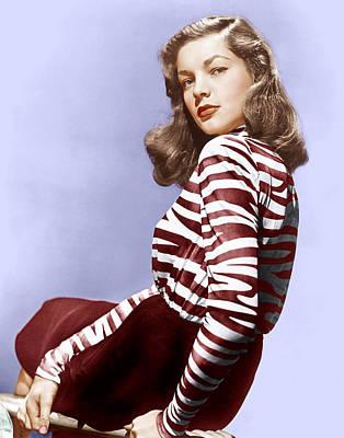Lauren Bacall, Ca. 1944 Poster
