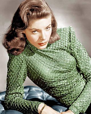 Lauren Bacall, Ca. 1946 Poster by Everett