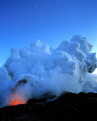 Lava And Steam Clouds Poster