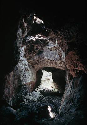 Lava Tube Cave On Mauna Loa Volcano, Hawaii Poster