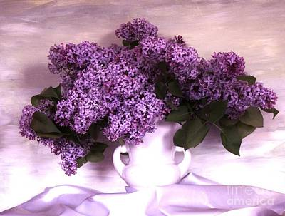 Lavendar Lilacs Poster