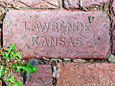 Lawrence Kansas Brick Paver Poster